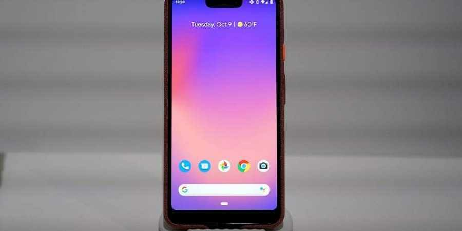 Google's Pixel 3 phone is on display during the official launch of the new Google Pixel 3 and 3 XL phone at a press conference in New York. (Photo | AFP)