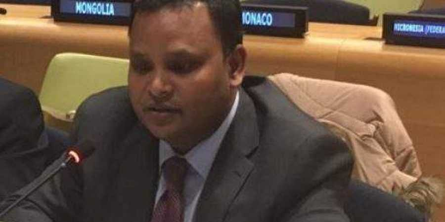Counsellor in India's Permanent Mission to the UN Ashish Sinha