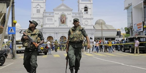 Sri Lankan Army soldiers secure the area around St. Anthony's Shrine after a blast in Colombo, Sri Lanka. (Photo| AP)