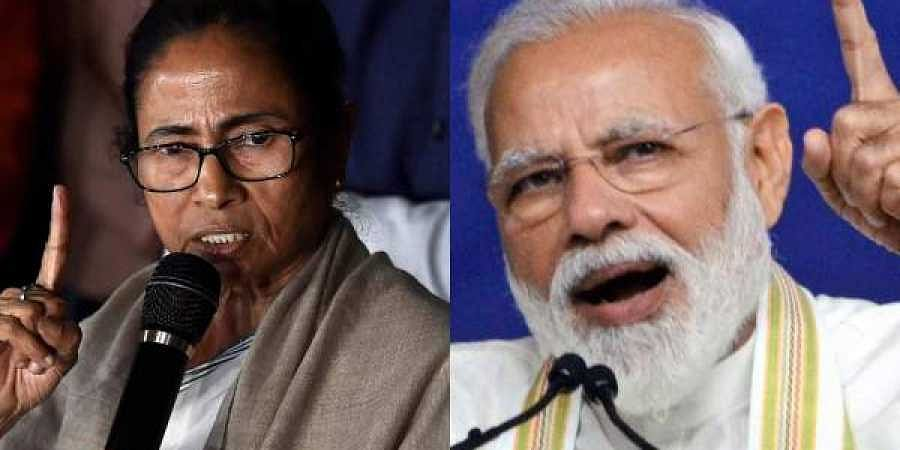 TMC supremo Mamata Banerjee (L) and PM Narendra Modi (R)