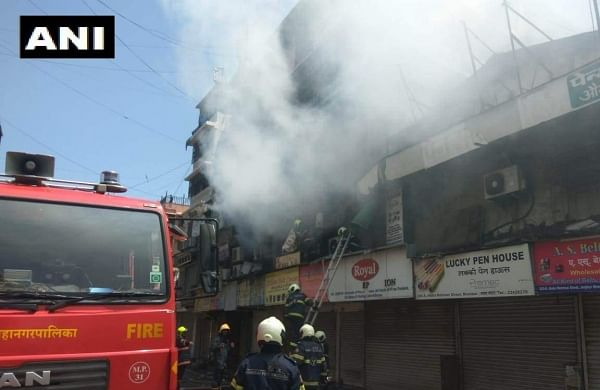 Fire breaks out at Crawford Market in Mumbai. (Photo| ANI)