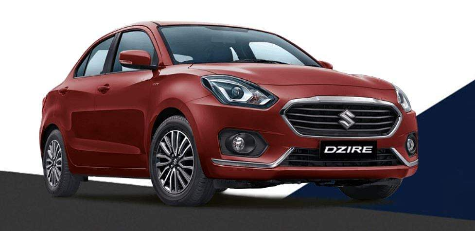 Maruti Suzuki's compact sedan Dzire stood second with sales of 2,53,859 units this year. The older version of the sedan had also occupied the second spot in 2017-18 with 2,40,124 units. (Photo | Maruti Suzuki official website)