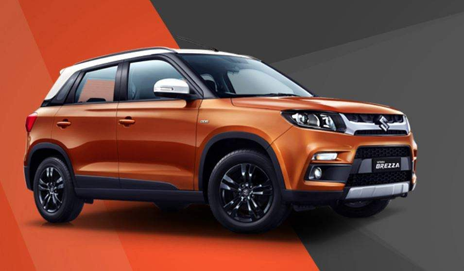 Maruti Suzuki 's compact SUV Vitara Brezza moved up two places from last year to take the fifth position in 2018-19 with 1,57,880 units. (Photo|Maruti Suzuki official website)
