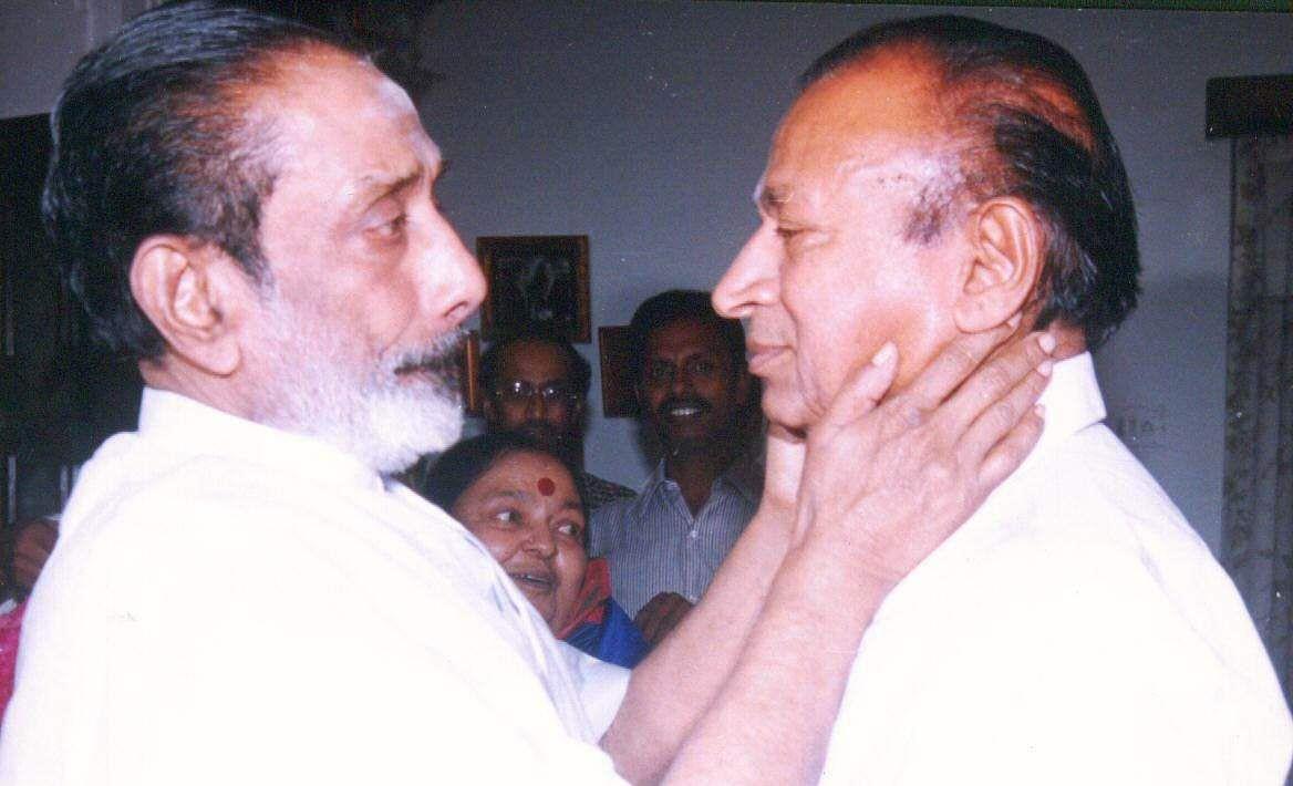Actors Sivaji Ganesan and Rajkumar.