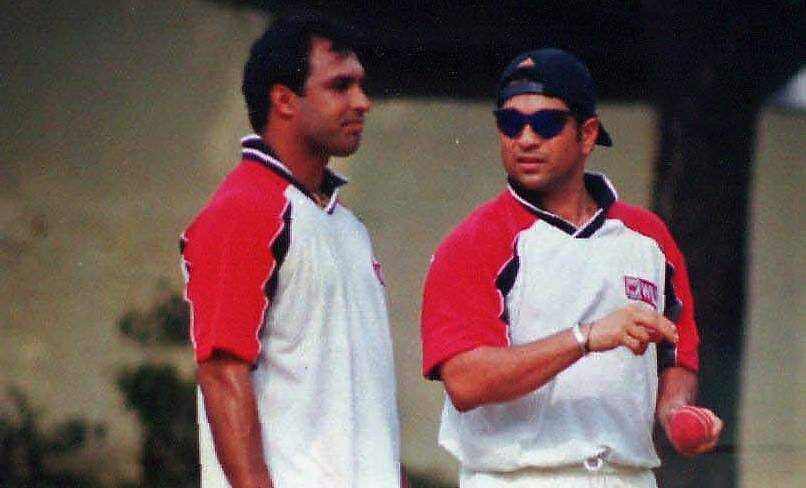 Former Indian cricketers Robin Singh and Sachin Tendulkar