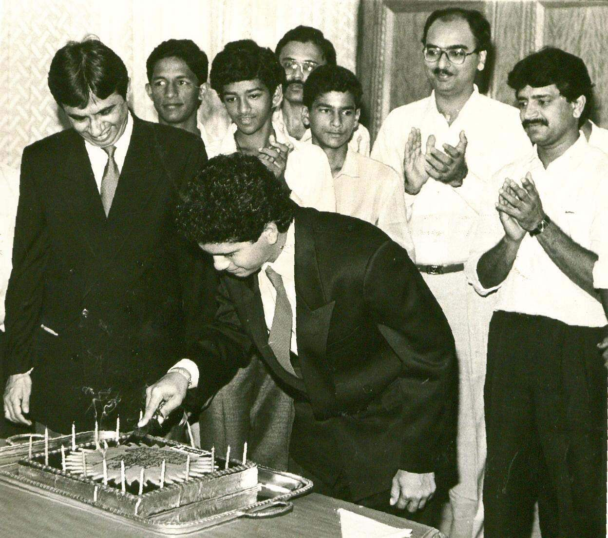 'Master Blaster' Sachin Tendulkar during his birth day celebration.
