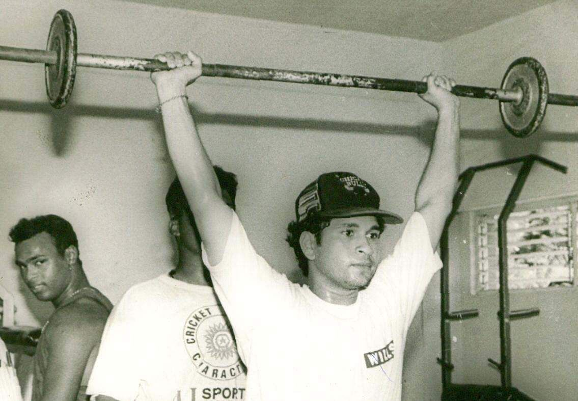 'Master Blaster' Sachin Tendulkar at the gym.