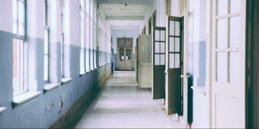 classroom, empty class