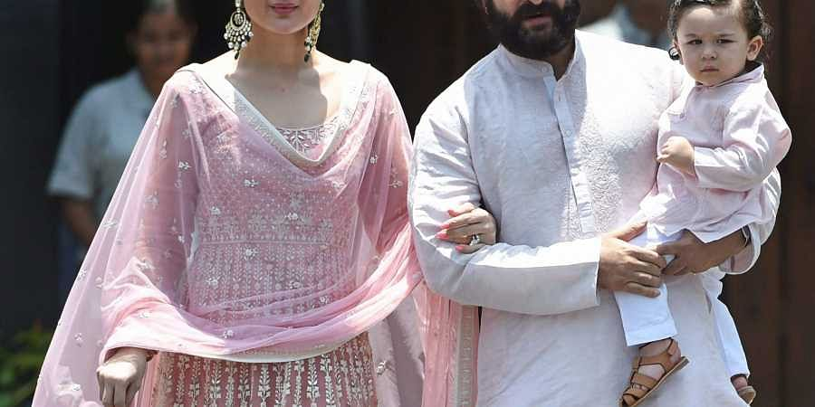 Kareena Kapoor with husband Saif Ali Khan and son Taimur. (Photo | PTI)