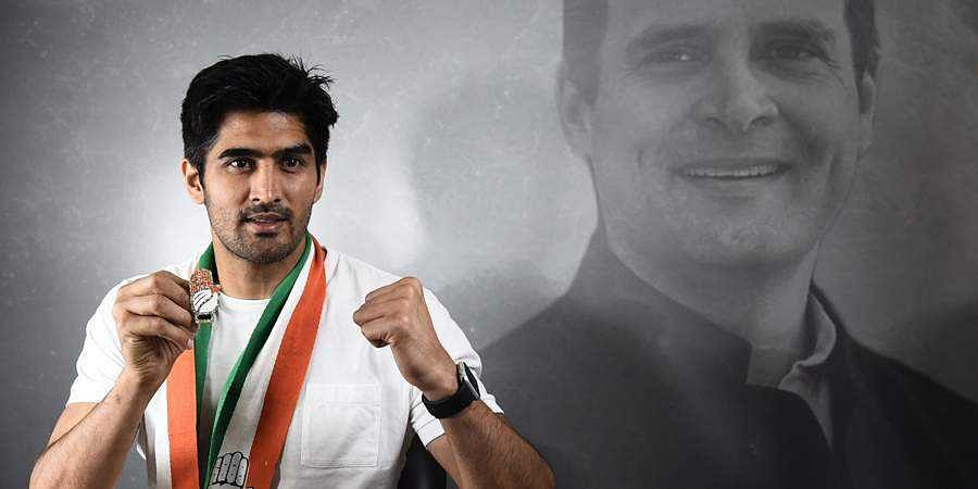 Boxer and Congress candidate from South Delhi constituency Vijender Singh