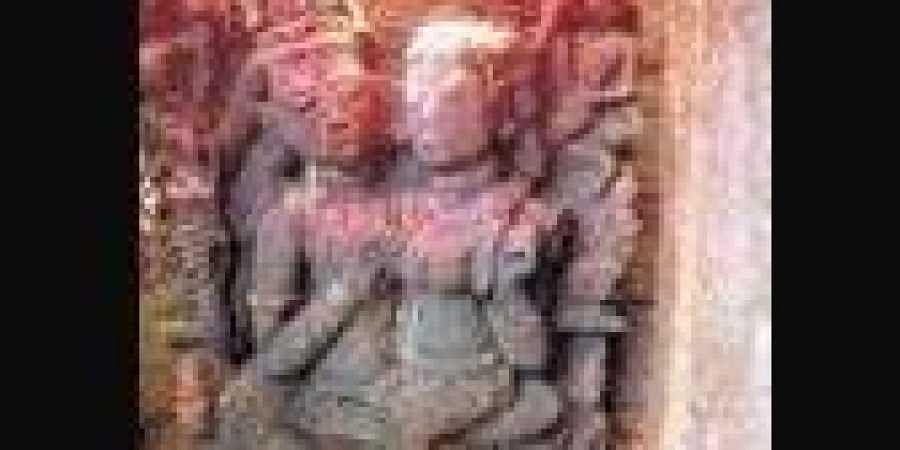 Idols of Lord Shiva and Goddess Parvati at Girligumma village