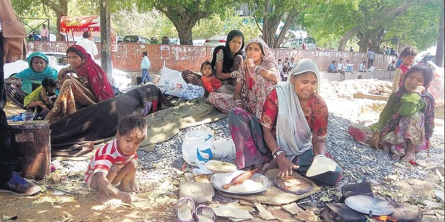 Left homeless by anti-encroachment drive, the families are now at the mercy of nature in the open
