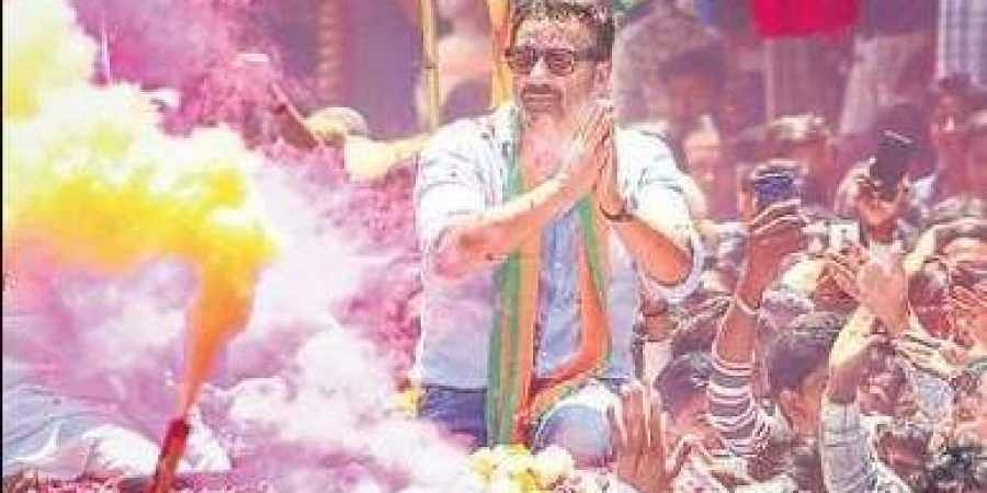 Actor Sunny Deol campaigns for the BJP