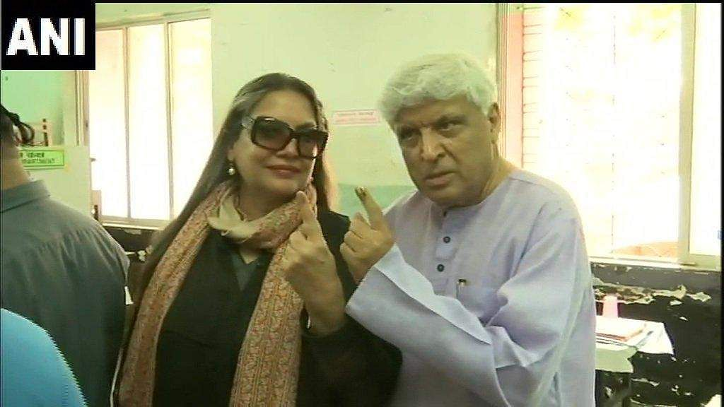 Veteran actress and activist Shabana Azmi with husband-writer Javed Akhtar.