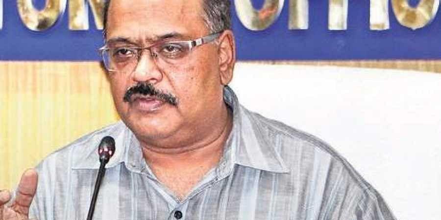 Odisha Chief Electoral Officer Surendra Kumar addressing mediaperson in Bhubaneswar on Sunday