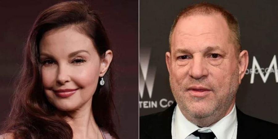 Hollywood actress Ashley Judd and producer Harvey Weinstein