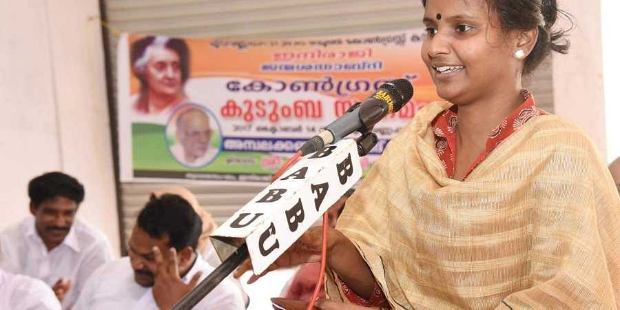Alathur UDF candidate Remya Haridas