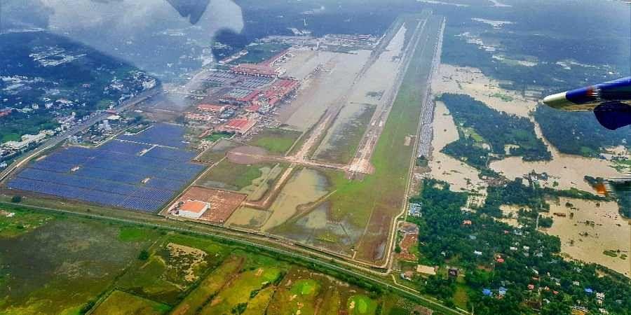 Aerial photo of Kerala floods.