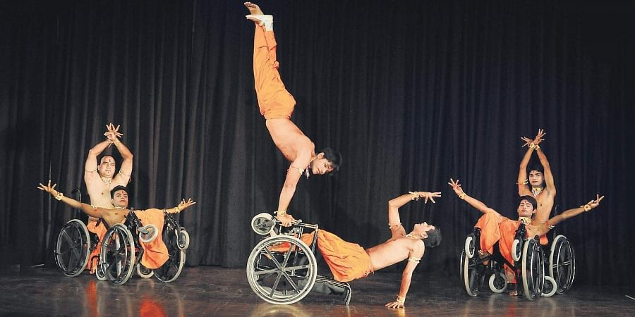 Wheelchair dance by the 10-member group