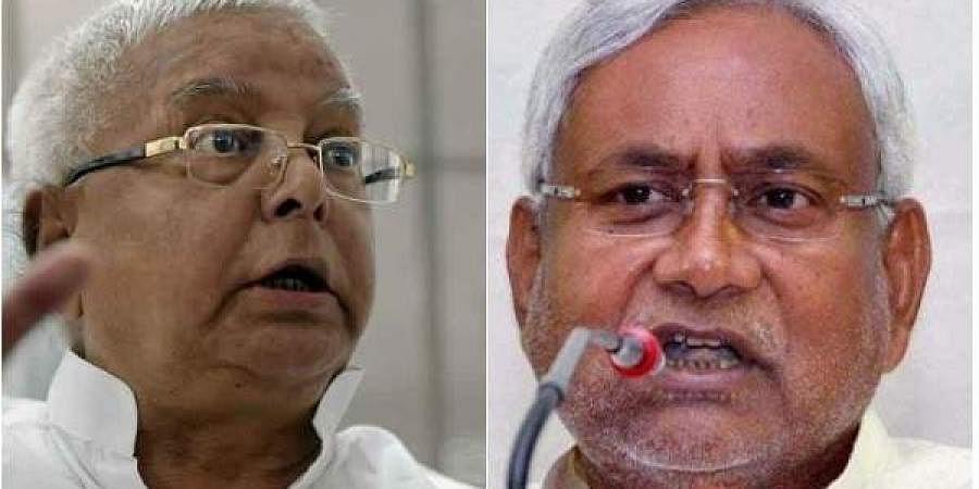 Lalu Prasad Yadav (Left) and Bihar's Chief Minister Nitish Kumar (Right). (File Photo | PTI)