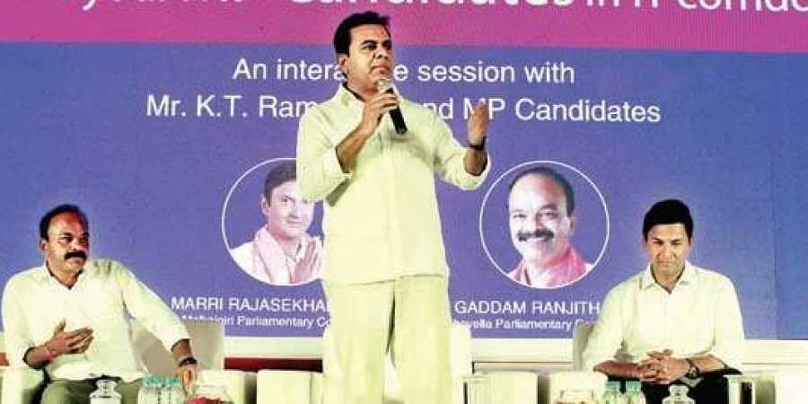 KT Rama Rao, K Chandrashekar Rao