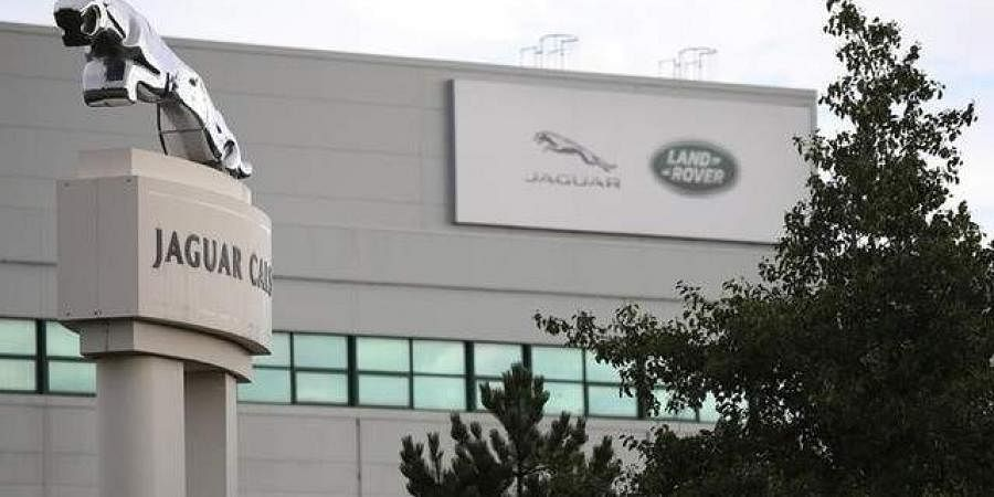 The Jaguar Land Rover plant at Halewood in Liverpool, northern England