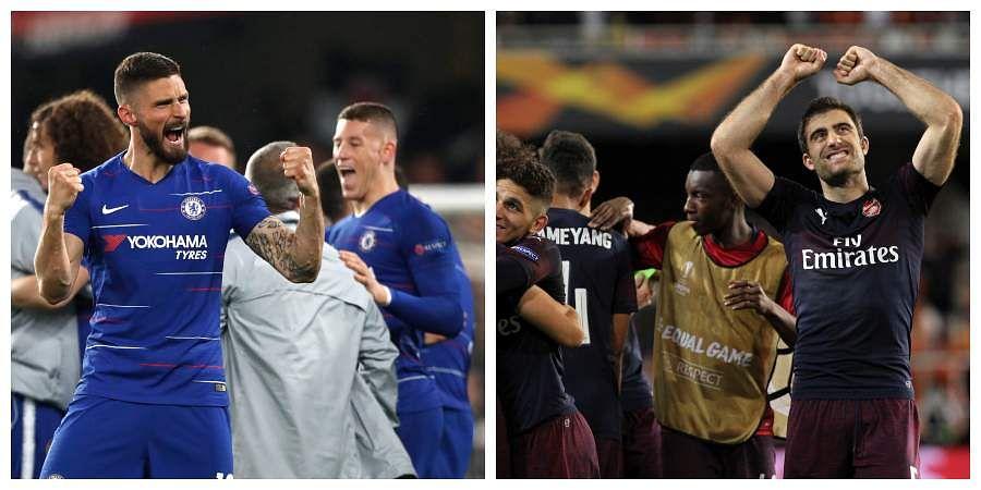 London derby, Europa League final