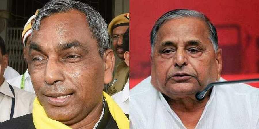 SBSP chief Om Prakash RajbharSBSP chief Om Prakash Rajbhar(L) and Samajwadi Party patriarch Mulayam Singh Yadav