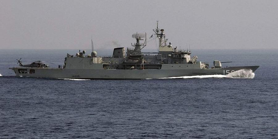 Australian warship HMAS Toowoomba
