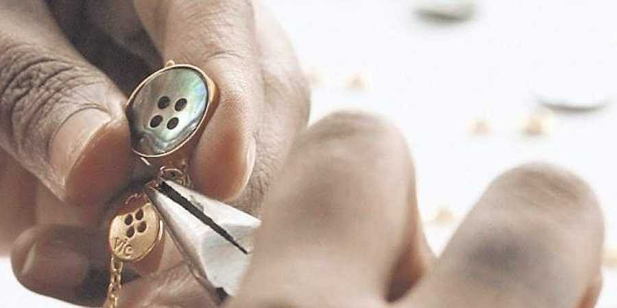 A button accessory from fashion label Vie.