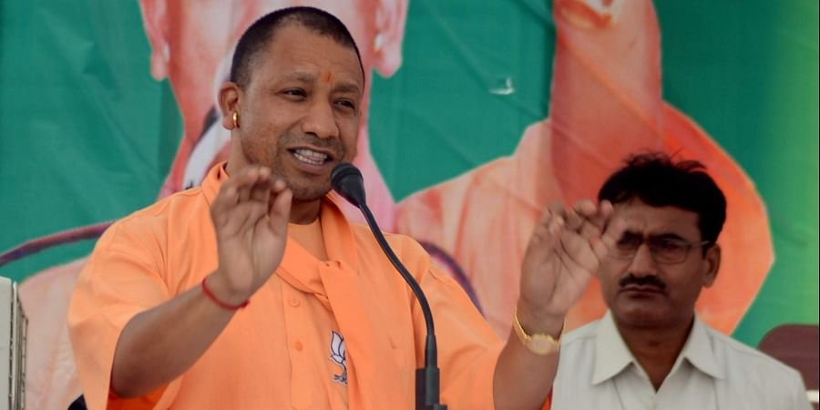 UP Chief Minister Yogi Adityanath during an election campaign rally for Lok sabha polls in Mirzapur