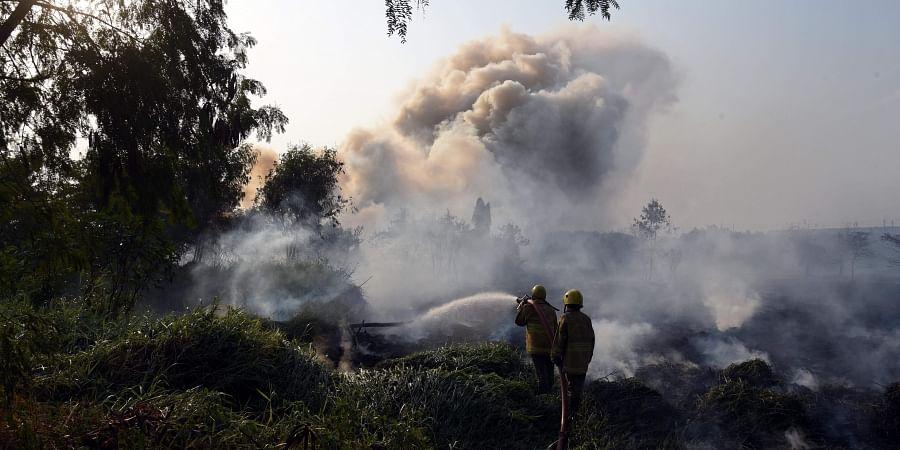 Koyambedu fire