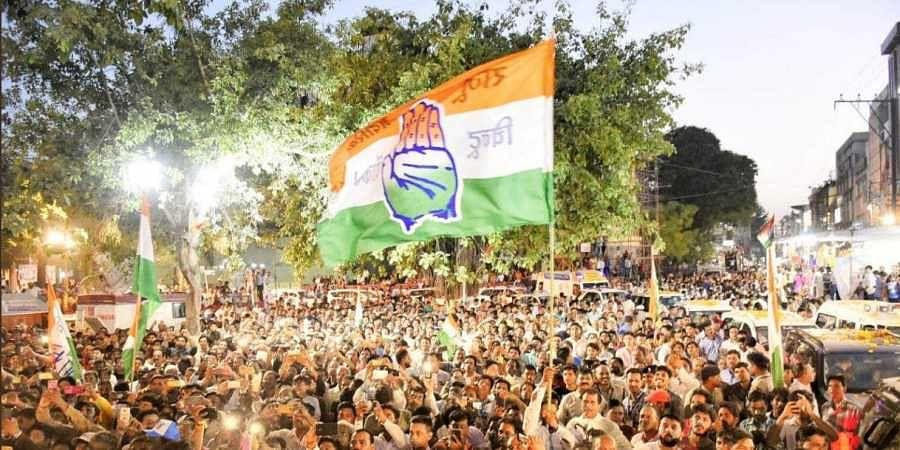 Congress flag, Congress supporters