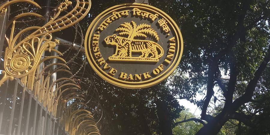 The logo of RBI is seen outside its Bengaluru office