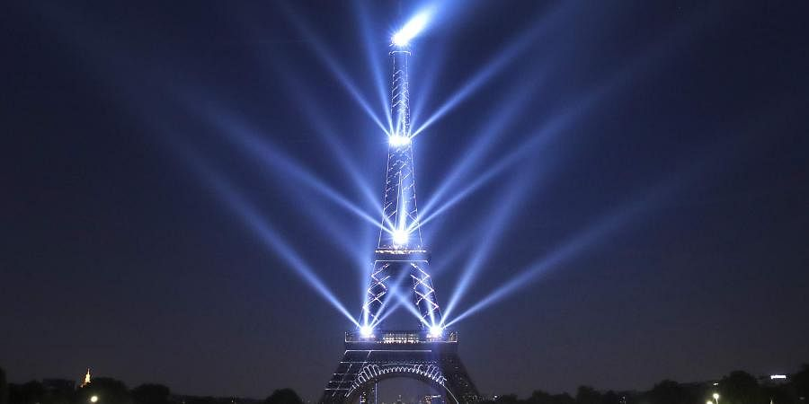 The Eiffel Tower has turned 130-years-old on Wednesday. Paris is celebrating its birthday with a light show at the famed monument. (Photo | AP)