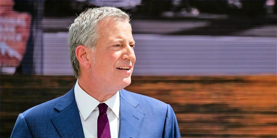Democratic presidential candidate New York Mayor Bill de Blasio
