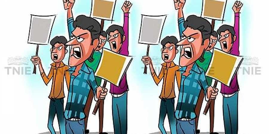 Protest, strike