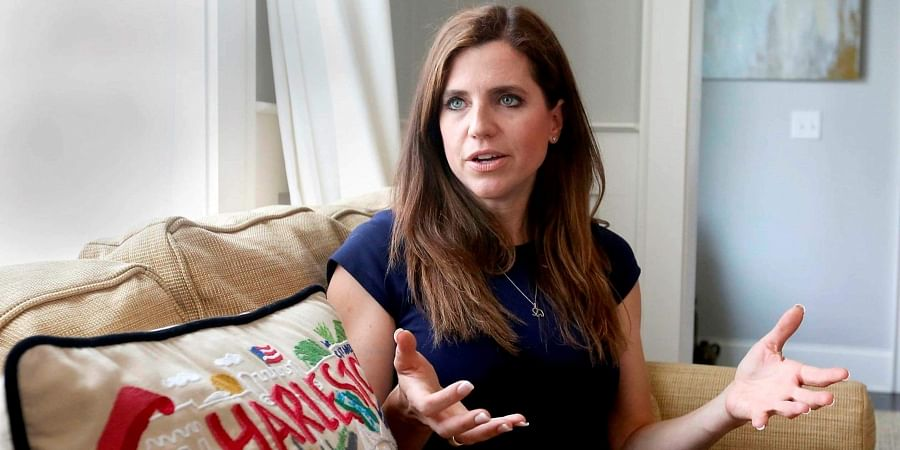 In this May 13, 2019 photo, South Carolina Rep. Nancy Mace discusses being sexually assaulted in Columbia, S.C.