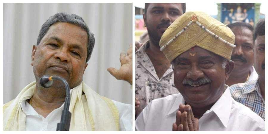 Congress leader Siddaramaiah (L) and JD(S) state president AH Vishwanath(R)