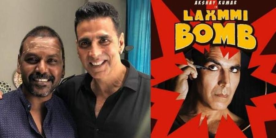 Director Raghava Lawrence with Bollywood actor Akshay Kumar