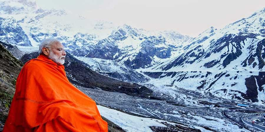 Prime Minister Narendra Modi during his visit to the Kedarnath valley. (Photo | PTI)