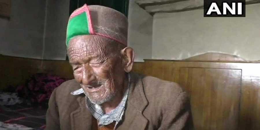 102-year-old voter Shyam Saran Negi