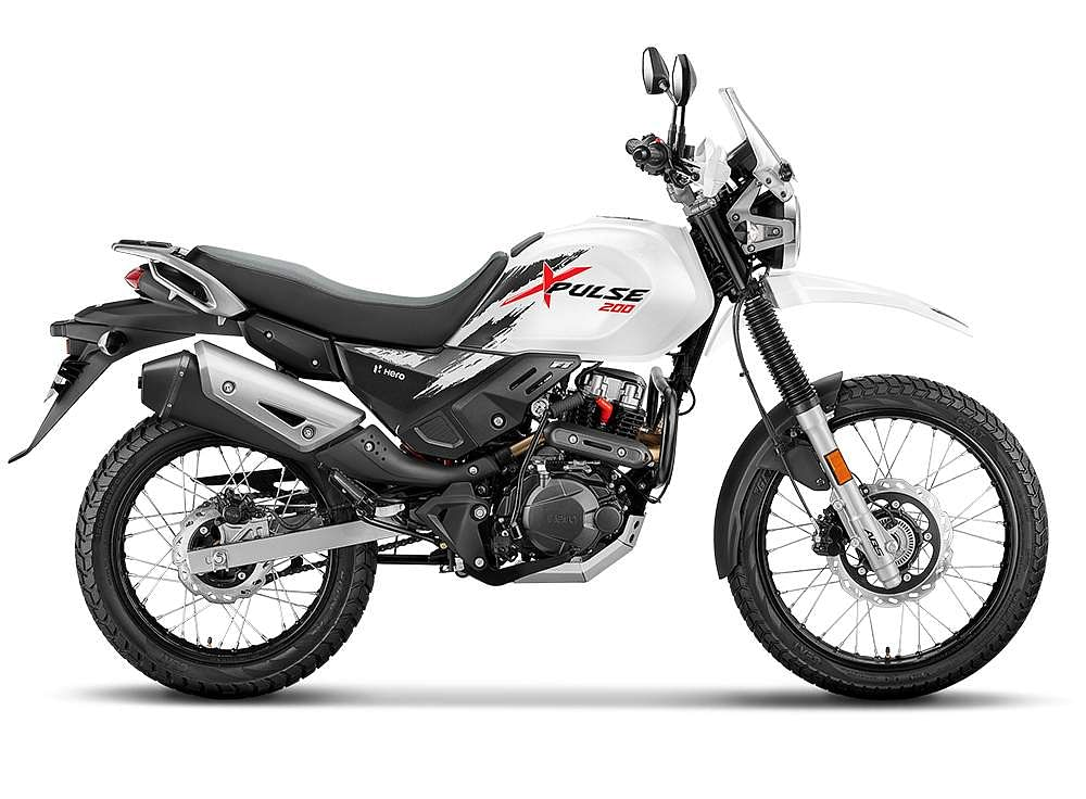 XPULSE 200- RS, 97,000/- & XPULSE 200 FI @ RS 105,000/- * Spec- Adventure motorcycle – a dynamic, on-road-off-road bike XPulse 200 comes with two variants of 200cc engine - CV Carburetor and Fuel Injection - delivering 18.4 PS Power and 17.1 Nm Torque for a real-world performance. XPulse comes with first-in-class 'Turn-by-Turn Navigation', LCD instrument cluster with Bluetooth connectivity, Gear Indicator, Trip meter, service reminder, full LED headlamps and tail lights, under-seat USB charger, protective windshields and luggage plate with bungee hooks. The XPulse 200 FI variant is available in three colors, including Matte Green, Pearl Fadeless White and Matte Axis Grey, while the Carburetor variant comes in two colors – Sports Red and Black.