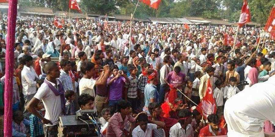 Image of a CPI supporters used for representational purpose (Photo | CPI Bihar Facebook)