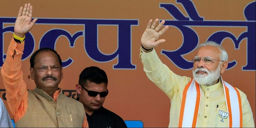 Jharkhand CM Raghubar Das and PM Narendra Modi