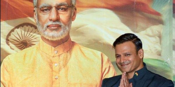 Bollywood actor Vivek Oberoi poses for photos after the poster launch of Prime Minister Narendra Modi's biopic in Mumbai. (File | PTI)