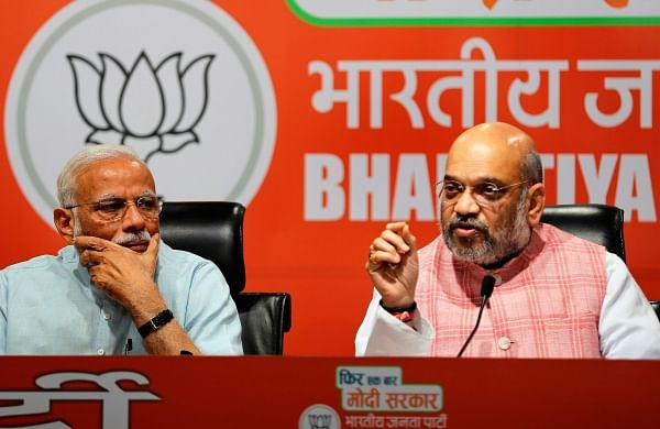 PM Narendra Modi (L) and BJP chief Amit Shah (Photo | AP)