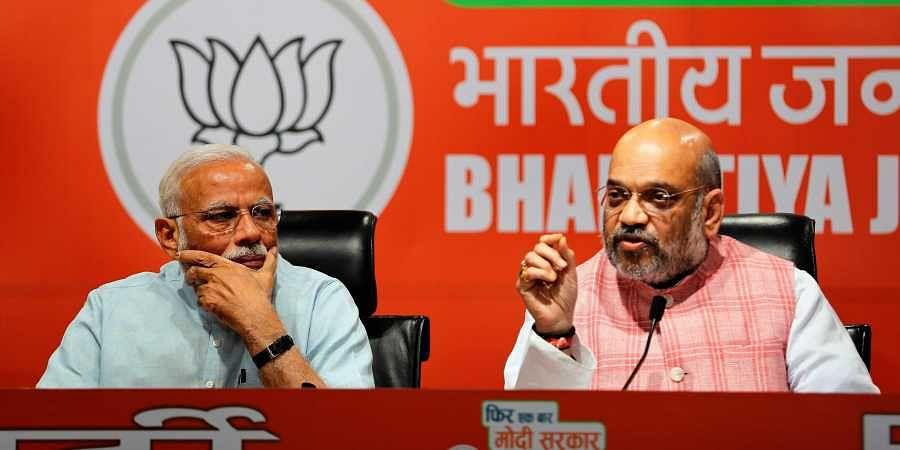 PM Narendra Modi and BJP chief Amit Shah