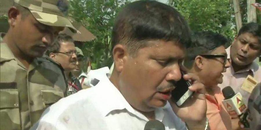 Arjun Singh, BJP candidate from Barrackpore, alleged that he was attacked by TMC workers during fifth phase polling in Lok Sabha elections . (Photo | ANI Twitter)
