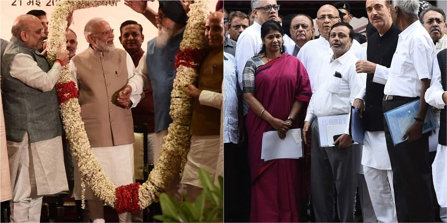 Results 2019: NDA puts up show of strength, Congress fears BJP's 'tricks' at work